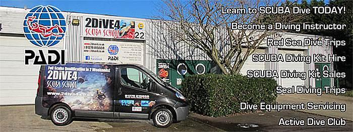 2DiVE4 Scuba School premises in Elsenham, Essex.Learn to Scuba Dive!