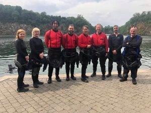 4 New PADI Dry Suit Divers at 2DiVE4 - August 2019