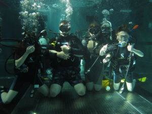PADI Discover Scuba Diving students