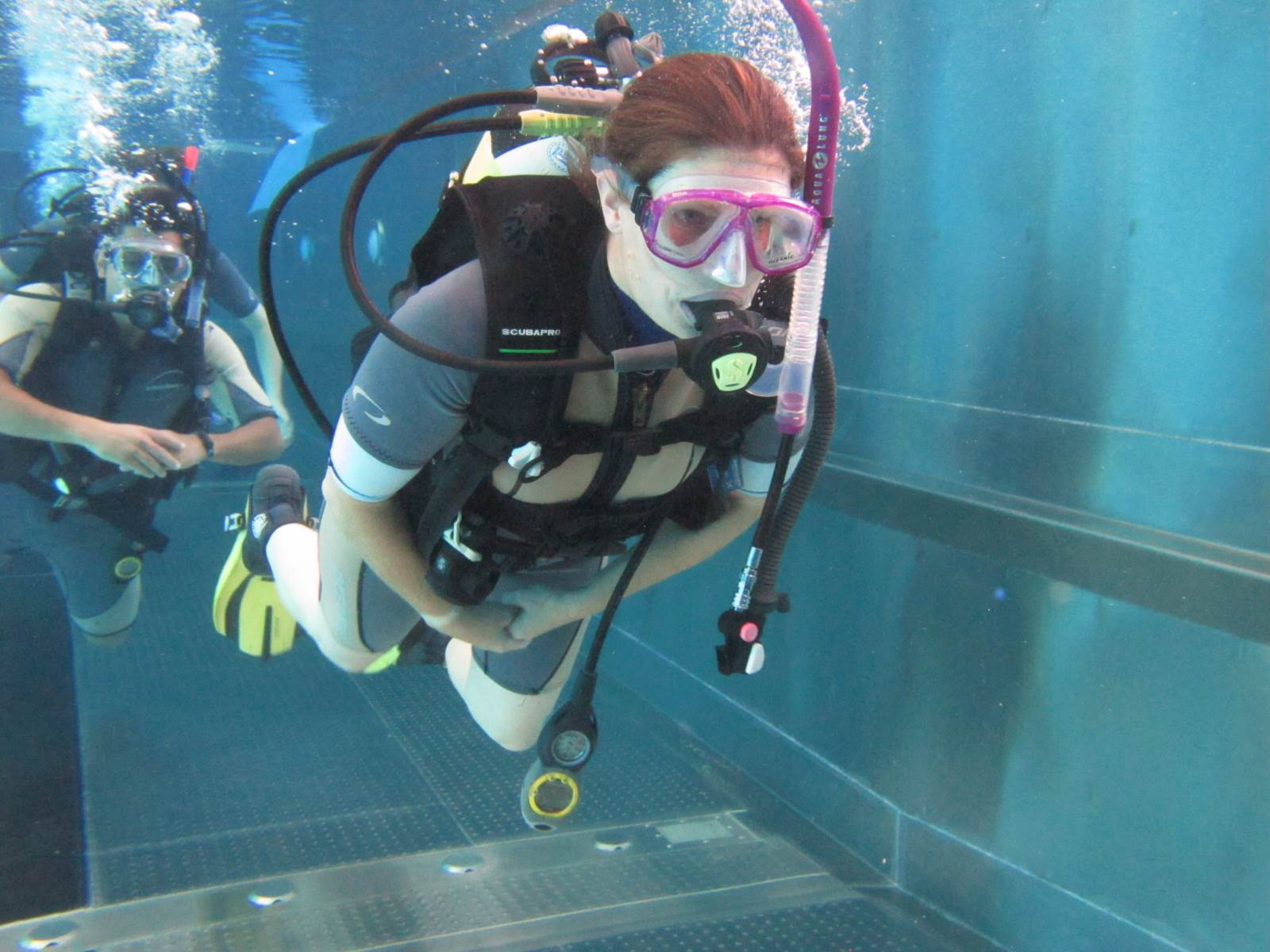 PADI Open Water Course pool training in Hertfordshire