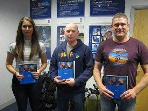 3 New PADI Trainee Divemasters at 2DiVE4