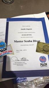 New PADI Master Scuba Diver at 2DiVE4 - August