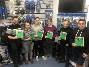6 New PADI Enriched ir Divers at 2DiVE4 - Jan 2020