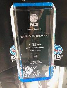 PADI Award for 2DiVE4