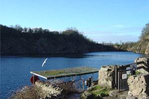 Stoney Cove one of our PADI course lakes we dive at