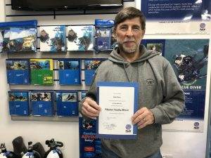 New PADI Master Scuba Diver at 2DiVE4 - Rick Potter