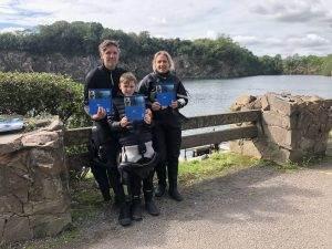 3 New PADI Dry Suit Divers at 2DiVE4