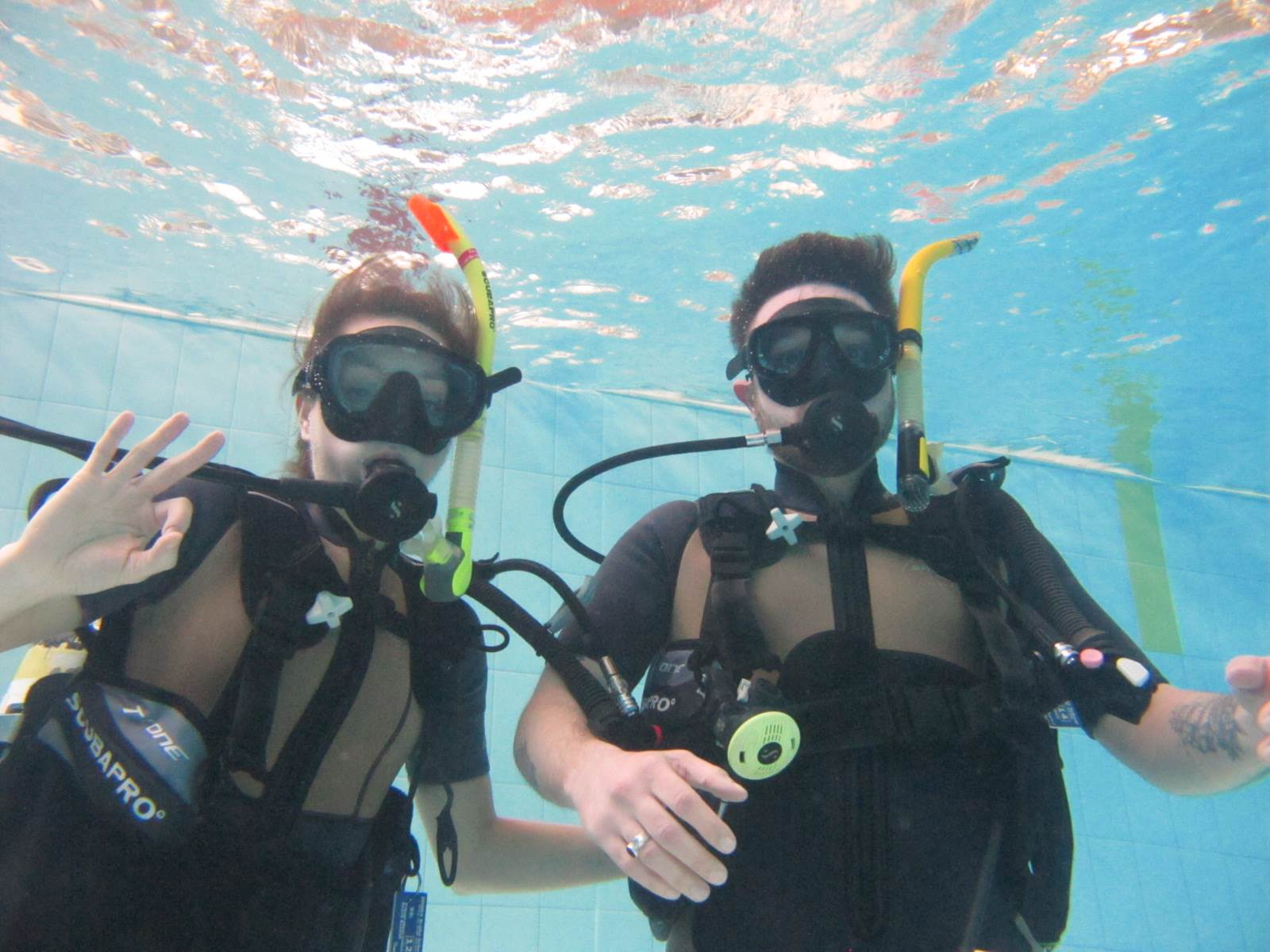 PADI Scuba diving course training in our Hertfordshire dive pool